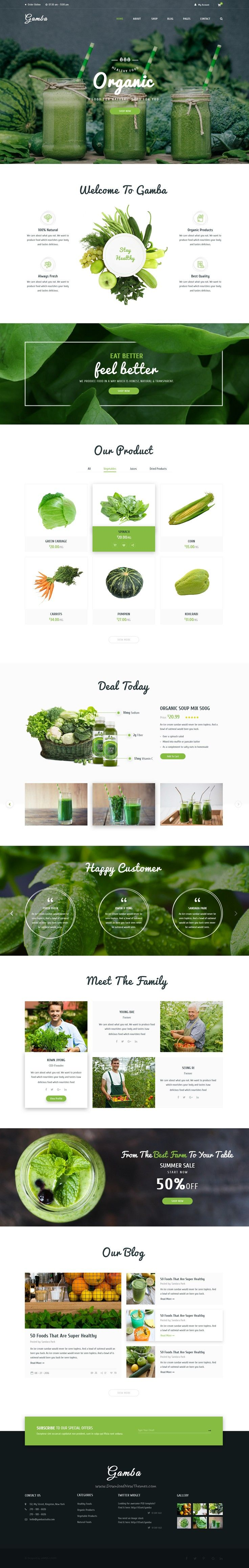 Gamba is a powerful, modern and creative #PSD template designed for food…