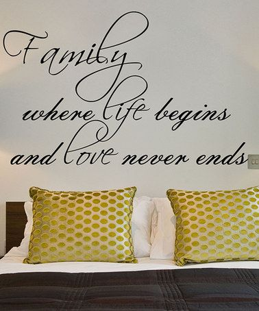 Love this 'Family' Wall Decal on #zulily! #zulilyfinds