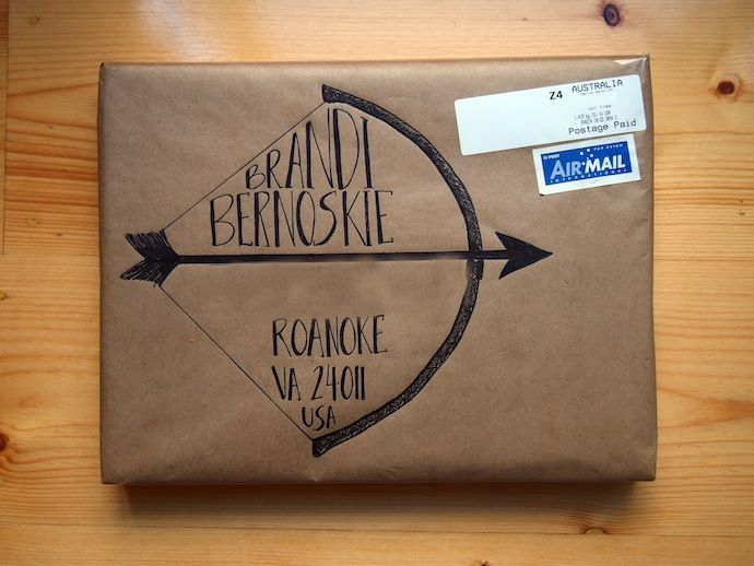 Bow and Arrow | Mail Art: 16 Really Cool Ways to Address an Envelope | The Realistic Mama