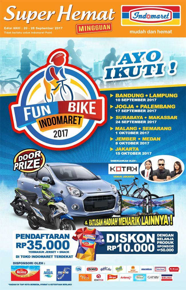 Promo #SuperHemat Fun Bike  Periode : 20 - 26 September 2017 Info lebih lengkap klik : https://goo.gl/fLnJ4w
