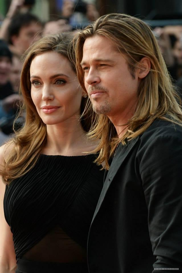 Angelina Jolie and Brad Pitt , 'World War Z' premiere, in London. 2nd June 2013.