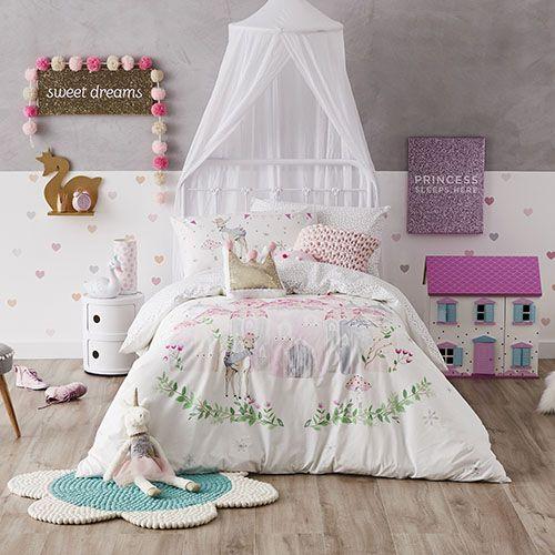 Winter Castle Quilt Cover Set Pink