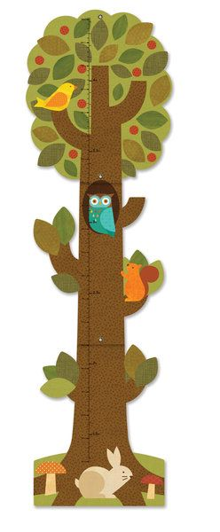 Petit Collage Tree Friends Growth Chart This sturdy, brightly illustrated growth chart unfolds and is easily hung for tracking a child's height. $37.95 AUD Includes delivery!