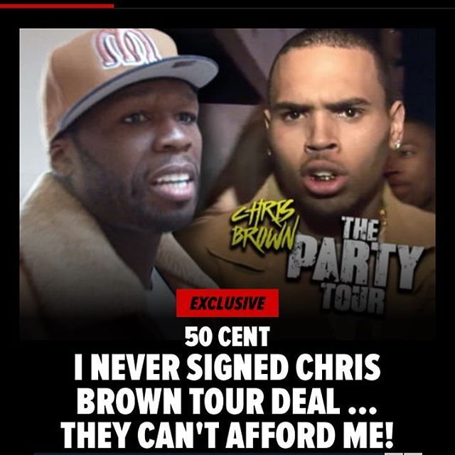 50 Cent Explains Why He Is Off Of Chris Brown's Tour - Imadeufamous