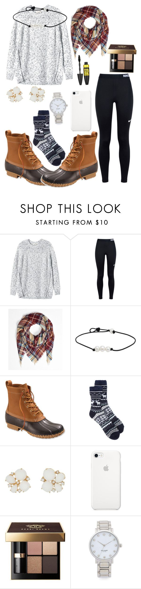 """""""Untitled #45"""" by kaoriroberts ❤ liked on Polyvore featuring Rebecca Taylor, NIKE, L.L.Bean, New Directions, Kate Spade, Bobbi Brown Cosmetics and Maybelline"""