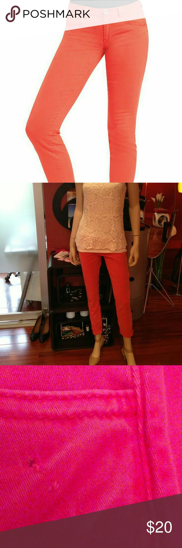 Cabi 2014 spring pigment jegging - coral red Nwot. a little defect around the pockets. There is a little cut in the label CAbi Pants