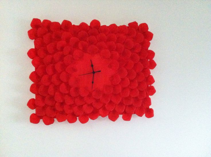 Red clock home made by me