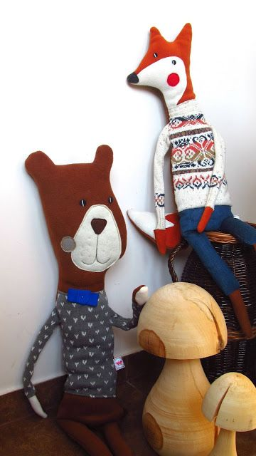 bear and fox  #agatownik #handmade  #polandhandmade www.polandhandmade.pl