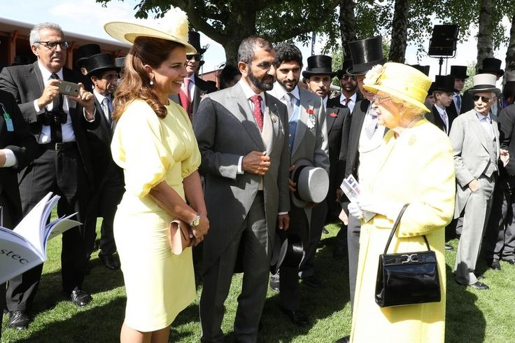 Dubai Ruler meets Queen Elizabeth at Epsom Derby - in pictures