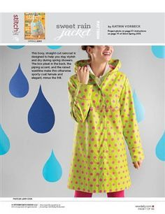 Sweet Rain Jacket: Free Sewing Pattern
