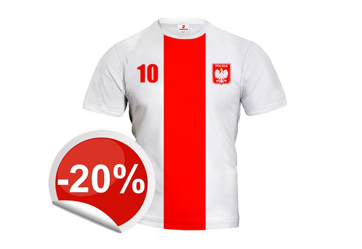 Poland fans get 20% discount on our white and red jersey that is perfect for match play! Get it and show them what you've got!