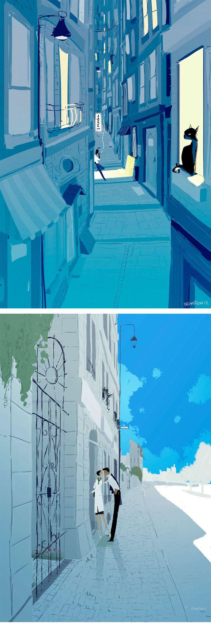 Ilustração e paleta