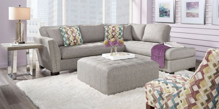 Best Cindy Crawford Home Calvin Heights Gray Textured 2 Pc 400 x 300