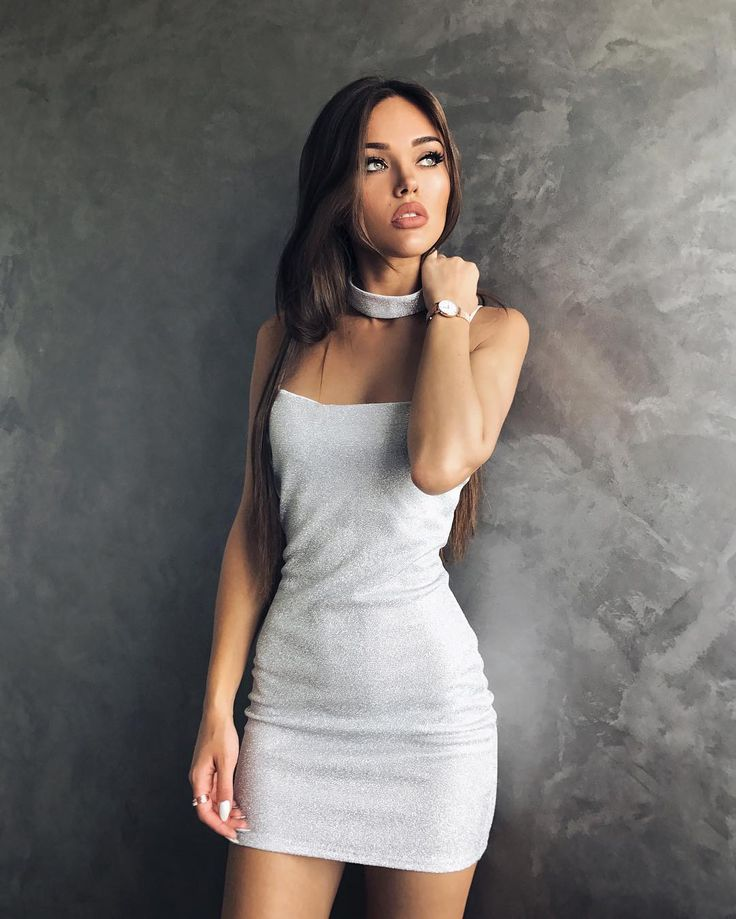 """Our Chic Pick:  @natali_danish slays in a sexy Silver mini dress for @kjstyleboutique_ Credit to: Natalie Danish (@natali_danish) on Instagram: """"Мыслями у моря  Silver dress @kjstyleboutique_"""""""