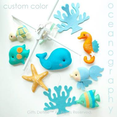 Baby Mobile Oceanography Under the Sea Artist by GiftsDefine, $185.00