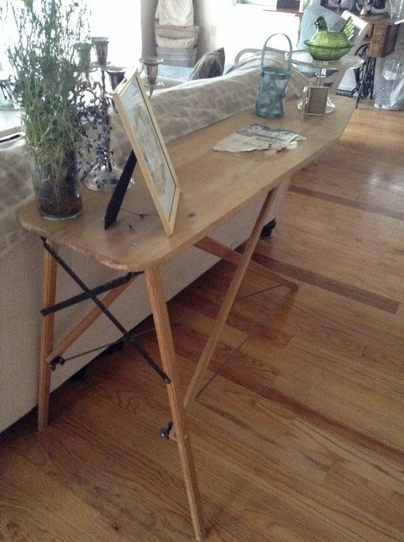 Vintage,wooden ironing board | Ironing boards, Board and Etsy
