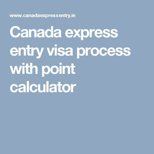 Canada express entry visa process with point calculator