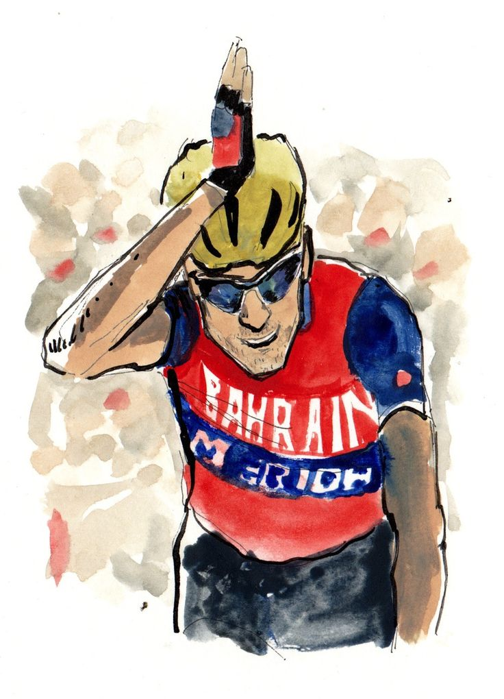 Vincenzo Nibali wins Stage 3 LaVuelta 2017 painting by Sam Smith