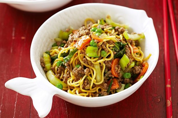 with no carb/calorie noodles of course! Beef Chow Mein Recipe - Taste.com.au