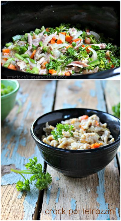 Crock-pot Turkey or Chicken Tetrazzini, Dairy Free Option ...