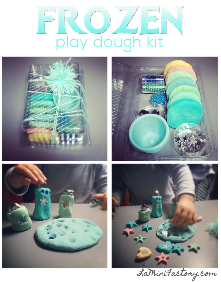 Play dough kit Frozen inspo. Un kit interamente fatto in casa ispirato a Frozen! Ecco come farne uno con il pongo fatto in casa!  Ricetta senza cremor tartaro