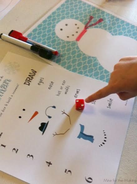 Teach Me Tuesday: Build a Snowman Game | Mine for the Making