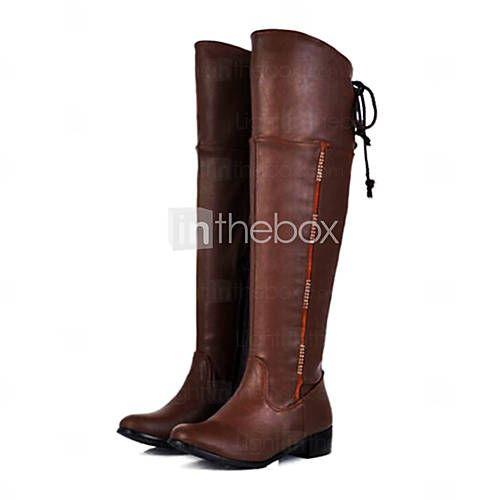 Botas ( Negro/Marrón/Blanco ) - Botas hasta la rodilla - Cargadores de la manera/Botas de Equitación - Otros - Piel/Cuero Artificial- 2015 – $59.99