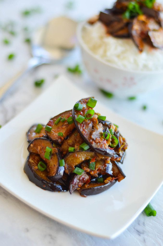 chinese-eggplant-in-spicy-garlic-sauce - This Chinese stir fry eggplant with spicy garlic sauce recipe or also known as Yu Xiang Qie Zi, is another popular Sichuan dish that is full of flavour.  If you haven't tried this Chinese eggplant with spicy garlic sauce (魚香茄子), you are missing out a lot. It is a popular Sichuan dish, after Mapo Tofu.