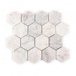 Carrara Marble White Hexagon Honed
