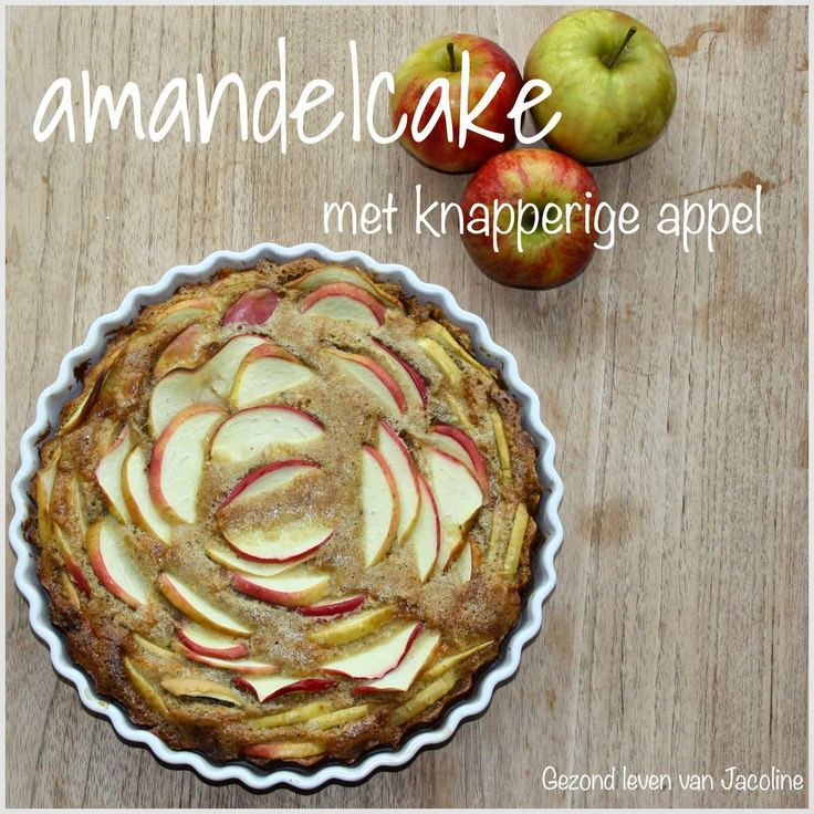 Glutenvrije amandelcake met knapperige appel  Echt, als je van appeltaart of appelcake houd dan kan dit recept zomaar ineens een nieuw favoriet van je worden.Doordat de cake niet heel lang wordt gebak