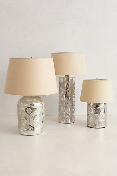 anthropologie lamp mercury glass lamps would brighten up the room too. Black Bedroom Furniture Sets. Home Design Ideas