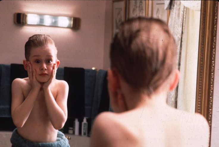 Kevin McCallister (Macauley Culkin) in a scene from the 1990 holiday film