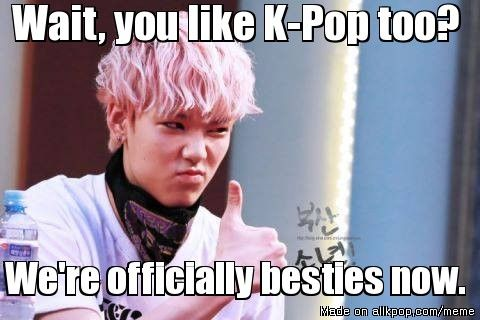 That moment when you find out your not the only crazy K-Pop fangirl... yay!