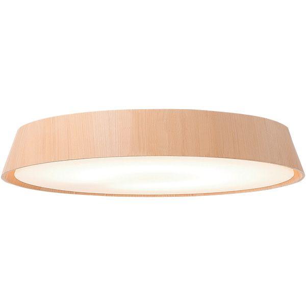 木製シェード蛍光灯シーリングライト リモコン付 ダークブラウン