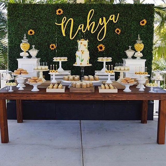 So well put together  Super cute #Sunflower baby shower by one of my favs @taylor_ryn !! - #boxedbash #eventcoordinator #eventstyling #party #partyplanner #events #eventlife #decor #eventstylist #glamour #fancy #classic #style #baby #babyshower #evedeso #eventdesignsource - posted by https://www.instagram.com/boxedbash. See more Baby Shower Designs at http://Evedeso.com
