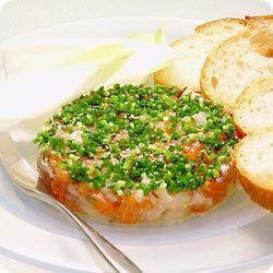 サーモンと帆立貝のタルタル仕立て (レシピNo.1213)|ネスレ バランスレシピ                                                                                                                                                      もっと見る