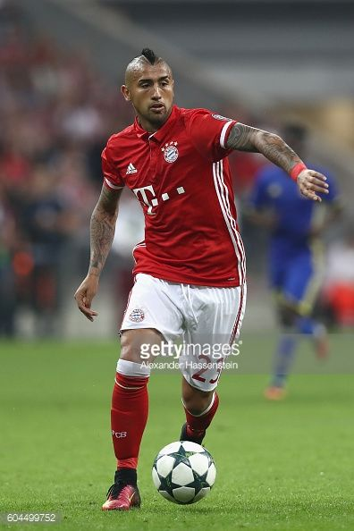 Arturo Vidal during the UEFA Champions League Group D match between FC Bayern Muenchen and FC Rostov at Allianz Arena on September 13 2016 in Munich...