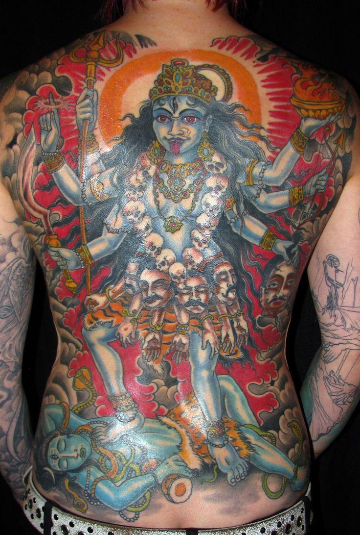 Goddess Spine Tattoo: 138 Best Kali Tattoos Images On Pinterest
