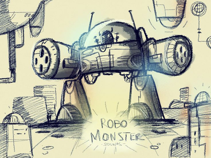 Robo Monster: ipad sketch