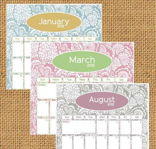 diy home sweet home: Free Printable Calendars