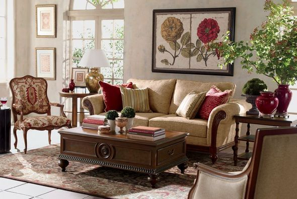 ethan allen sofas in living room | Ethan Allen | Elegance Living Room