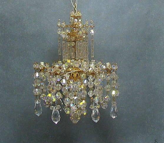 Miniature Crystal Dollhouse Chandelier 175 00 Via Etsy