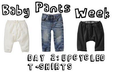 baby pants week day 2: upcycled t-shirts: Baby Pants, Pants Tutorials, Homes Crafts, Upcycled T Shirts, Pants Week, Upcycled Tshirt, Kate Sewing, Sewing Tutorials, Tshirt Kids Pants