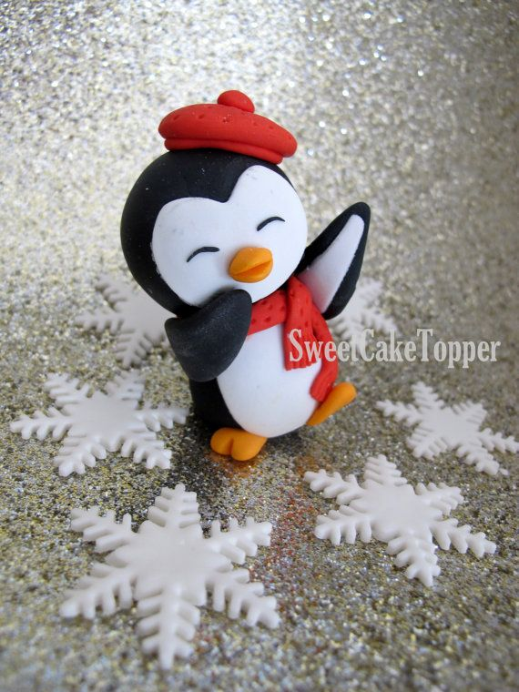 Penguin Cake Topper exclusive design by by SweetCakeTopper