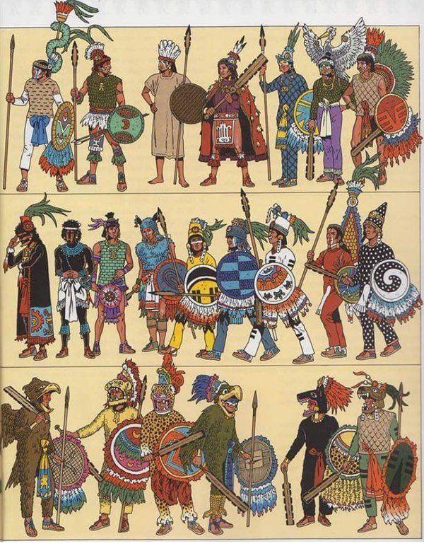Vestimentas mexicana, purepechas, tlaxcaltecas y acolhuas