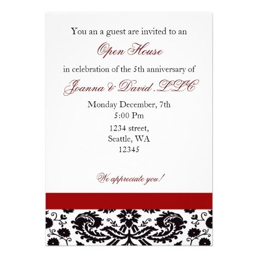 20 best business open house invitations images on pinterest elegant red corporate party invitation stopboris Image collections