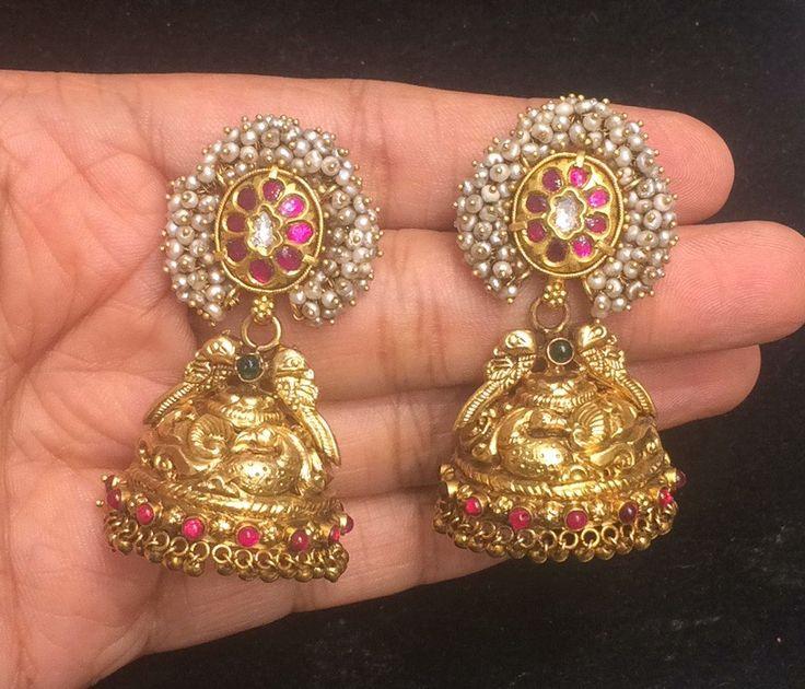 Wedding Jhumkas - Gold