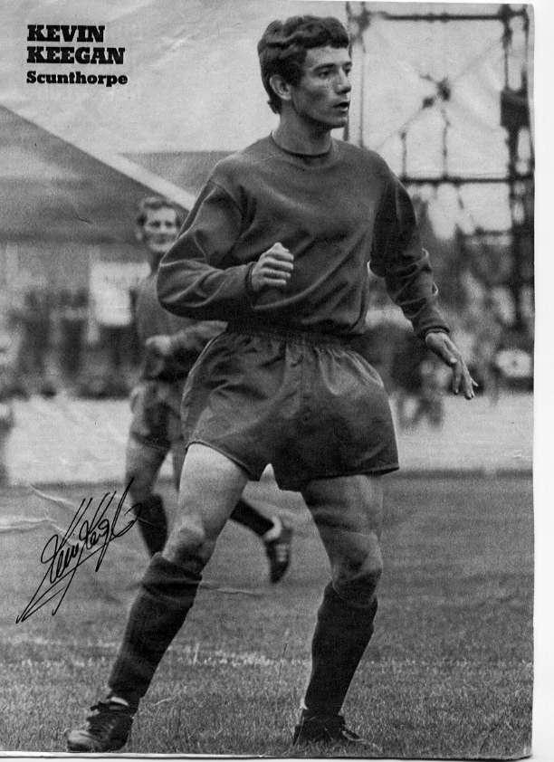 Kevin Keegan en el Scunthorpe United, su primer club profesional.