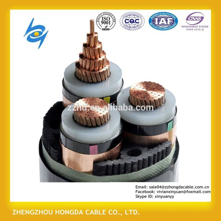 15kv 33kV Medium Voltage Steel Wire Armoured Electrical Cable 3 Phase Copper Wire Screen XLPE Power Cable