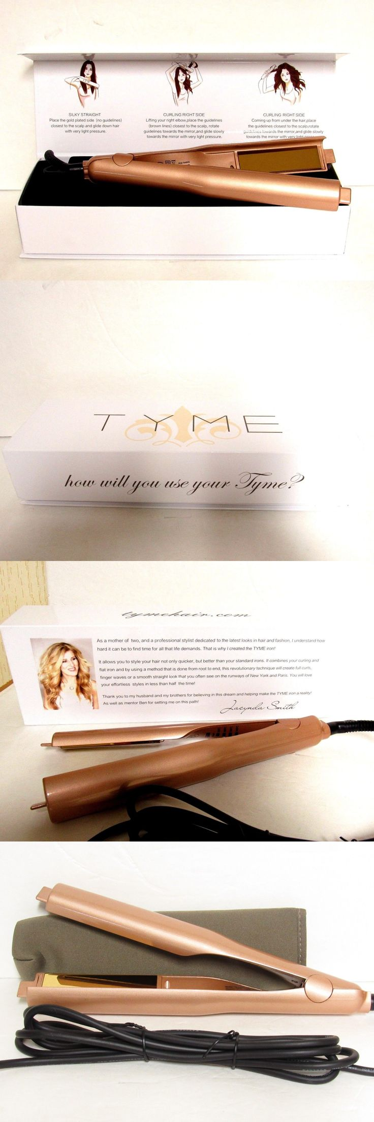 Straightening and Curling Irons: New In Box - Tyme Gold Plated Titanium Hair Straightening Curling Iron -> BUY IT NOW ONLY: $134.87 on eBay!